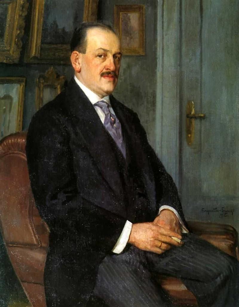 Богданов Бельский. Автопортрет. 1915