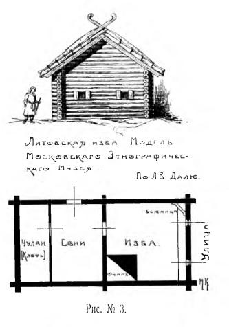 Красовский. Литовская изба.