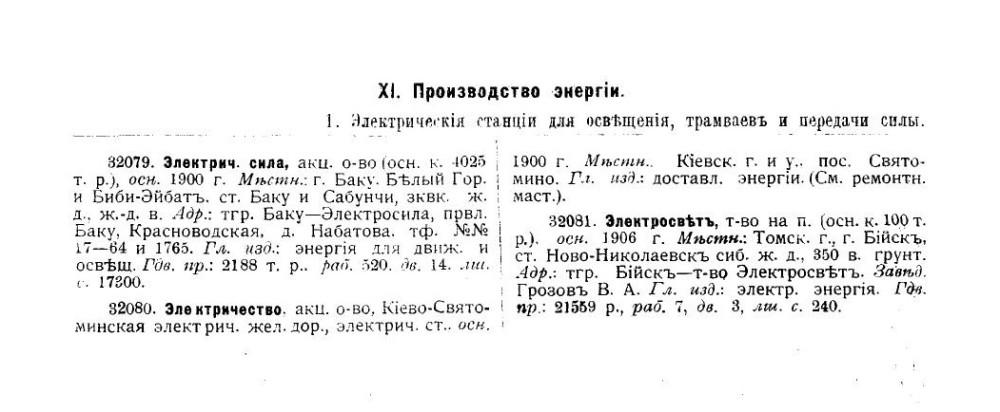 Электрические станции для трамваев, освещения и передачи силы. 1910 РГБ.
