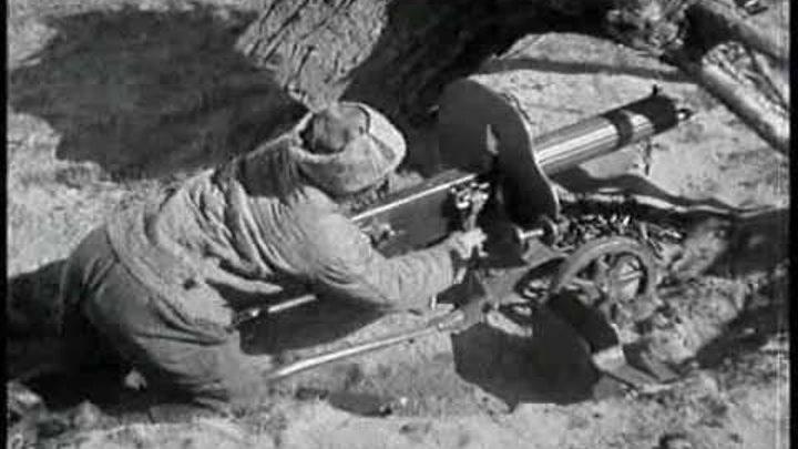Анка-пулемётчица. Кадр из фильма Чапаев.