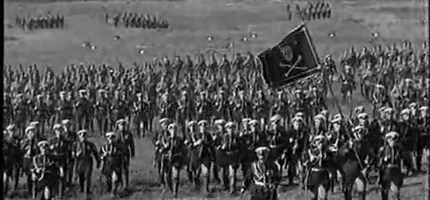 Кадр из фильма Чапаев.