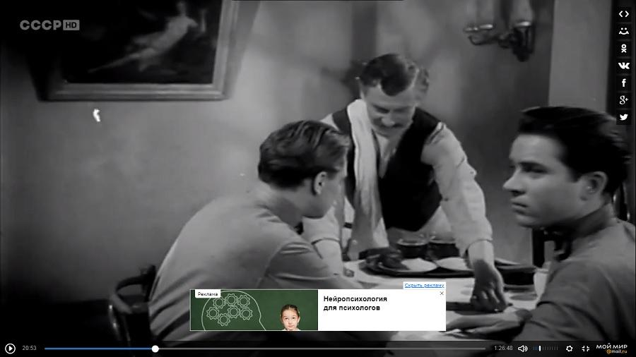 Кадр из фильма Жестокость. 1959 год.