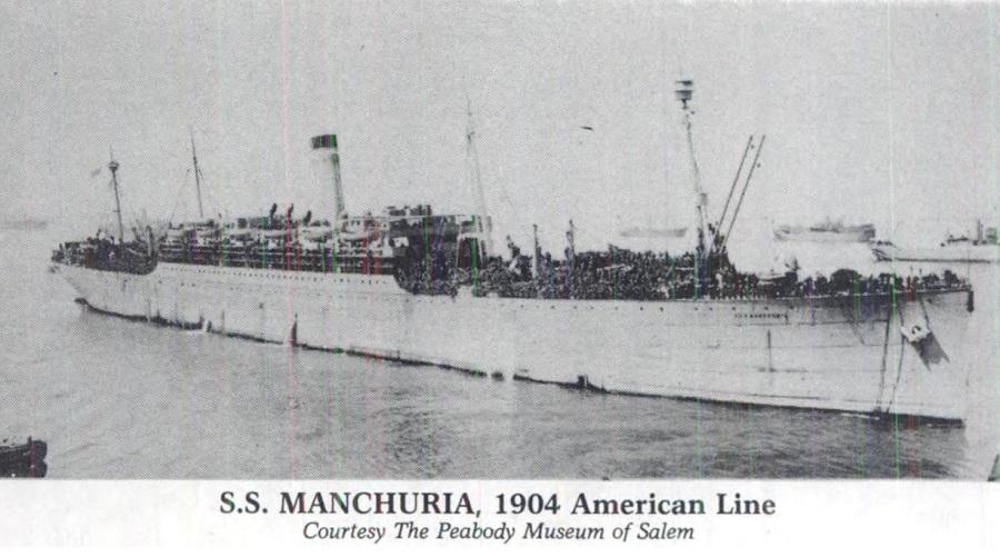 Пароход Манчжурия. 1904г.