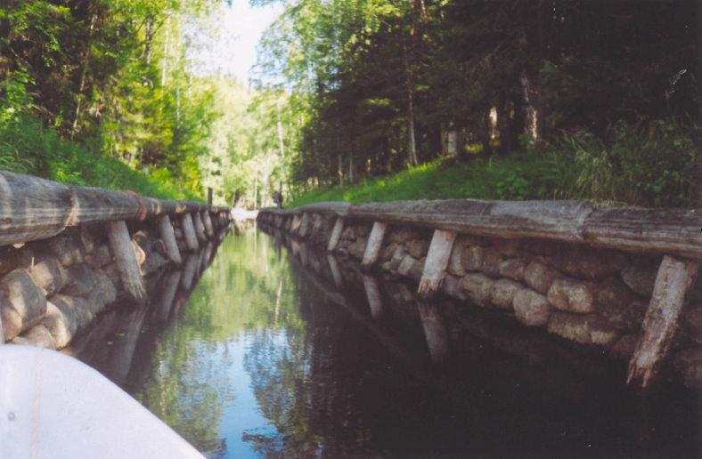 Один из каналов Соловецкой гидротехнической системы.