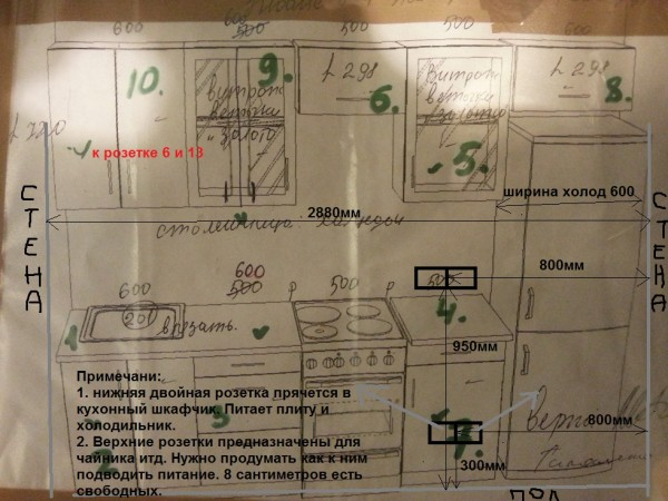 кухня чертеж