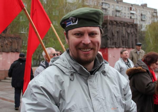 Михаил Матвеев на первомайском митинге