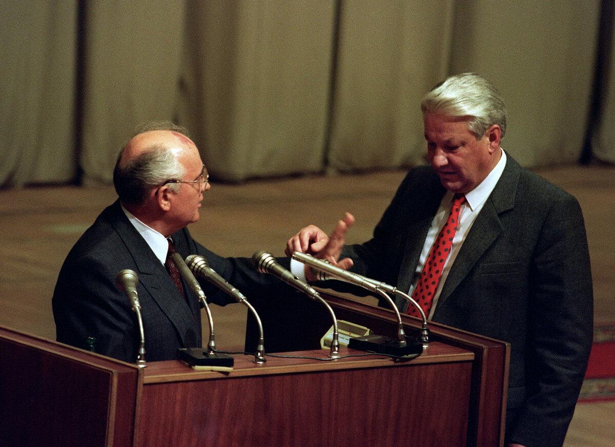 Конфликт Горбачёва и Ельцина, двоевластие в Кремле