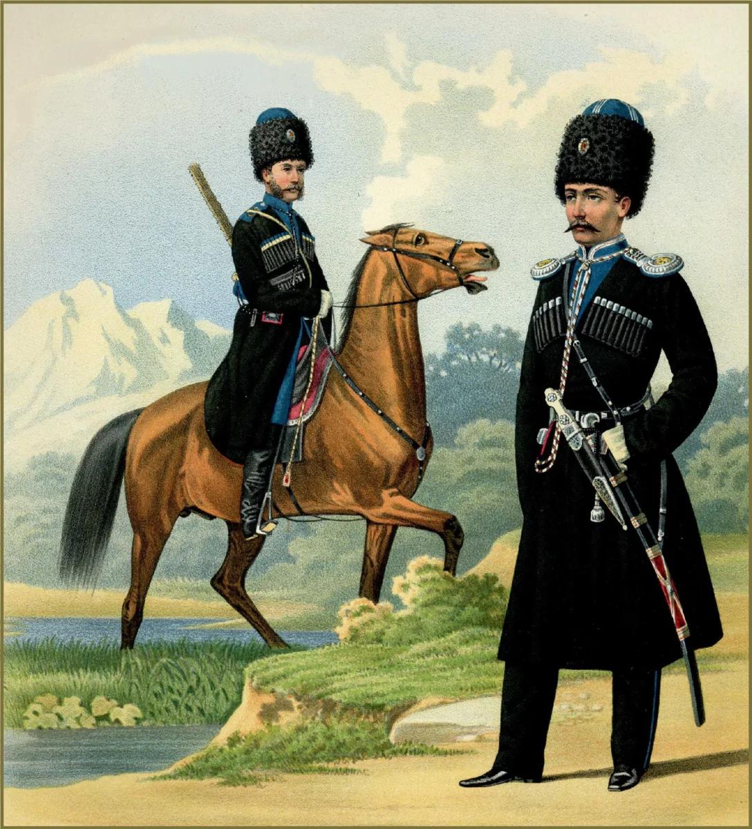 гребенские (терские) казаки (изображение взято из открытых источников)