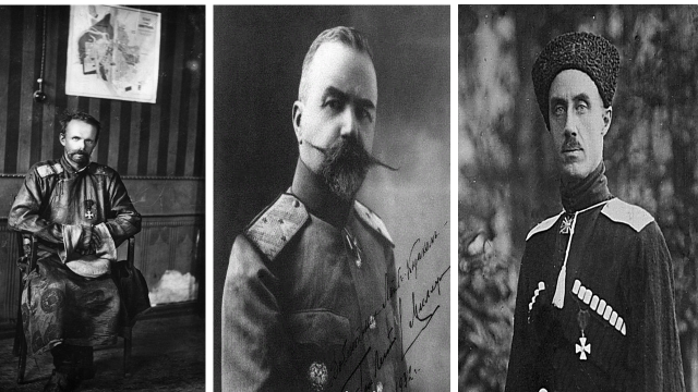 Белогвардейцы-немцы слева направо: Унгерн-Штернберг Р.Ф., Миллер Е.К., Врангель П.Н. Как мы видм даже среди белогвардейцев было много немцев