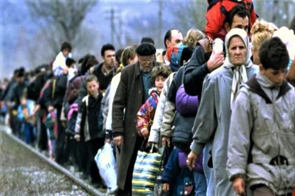 Поток беженцев (изображение взято из открытых источников)