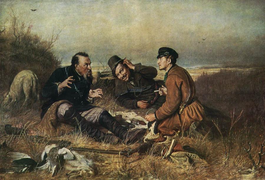 Перов-Охотники на привале