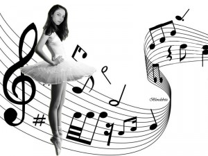 Ballerina Dru Music wall