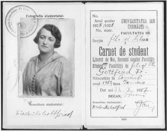 Студенський квиток 1927/28 рік