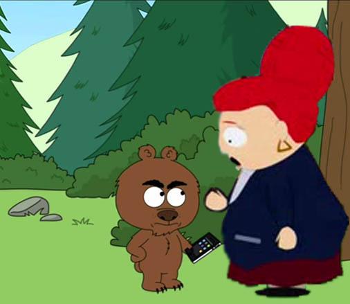 Мамаша и медведь