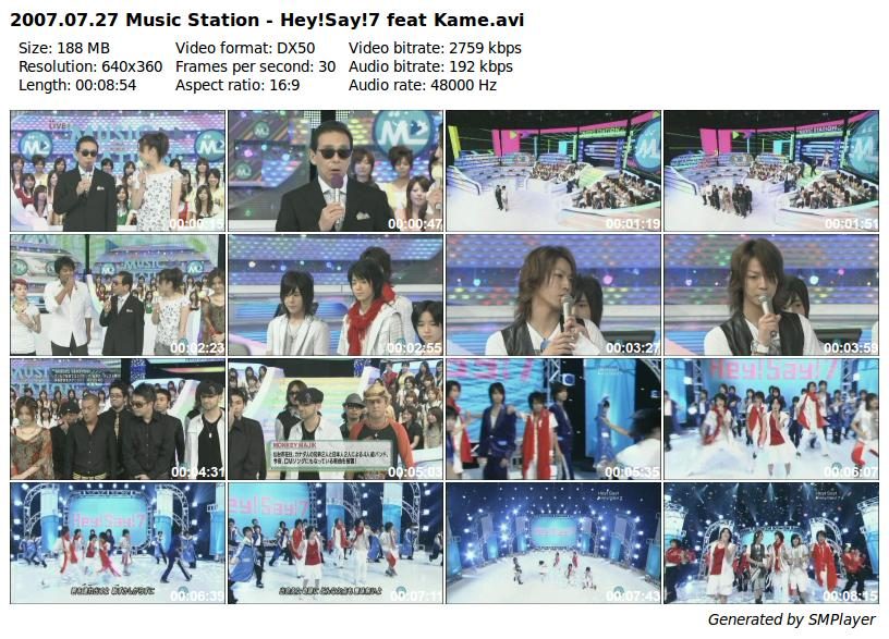 2007.07.27 Music Station - Hey!Say!7 feat Kame_preview