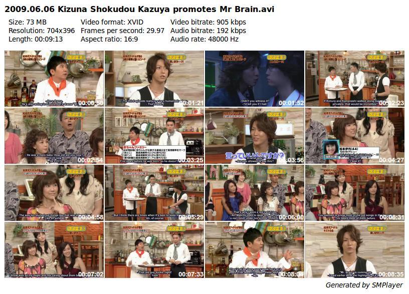 2009.06.06 Kizuna Shokudou Kazuya promotes Mr Brain_preview
