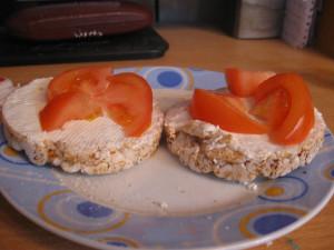 Rice Cakes Tomato