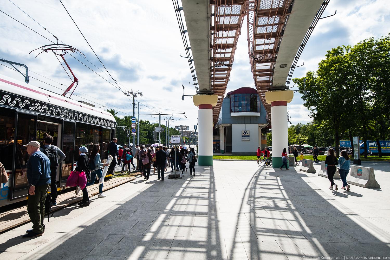Станция монорельса Выставочный центр выставочный центр