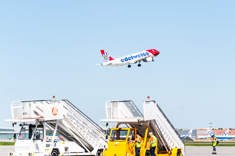 Летний споттинг в аэропорту Шереметьево.