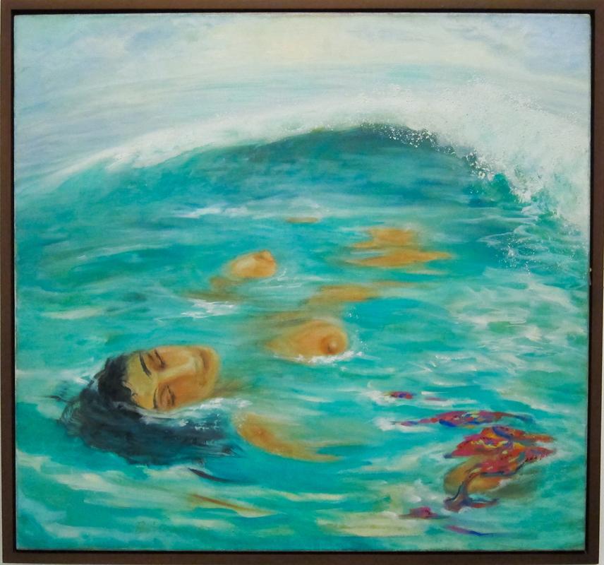Бибиана Велес. Автопортрет в море.