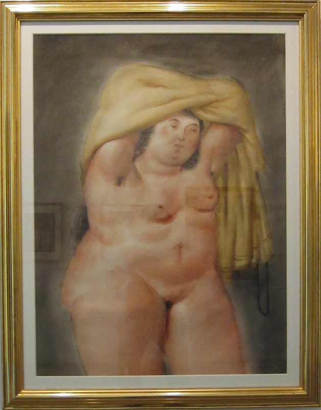 Раздевающаяся женщина