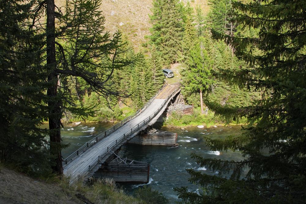 Мост на реке Коксу
