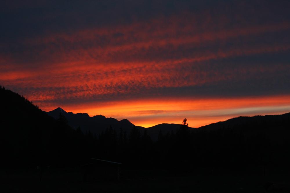 Закат над Катунским хребтом