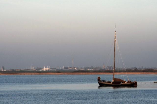Boat on the Ijselmeer