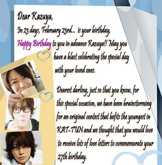 Voting: Original Love Letter - Kazuya Birthday: going_gonin