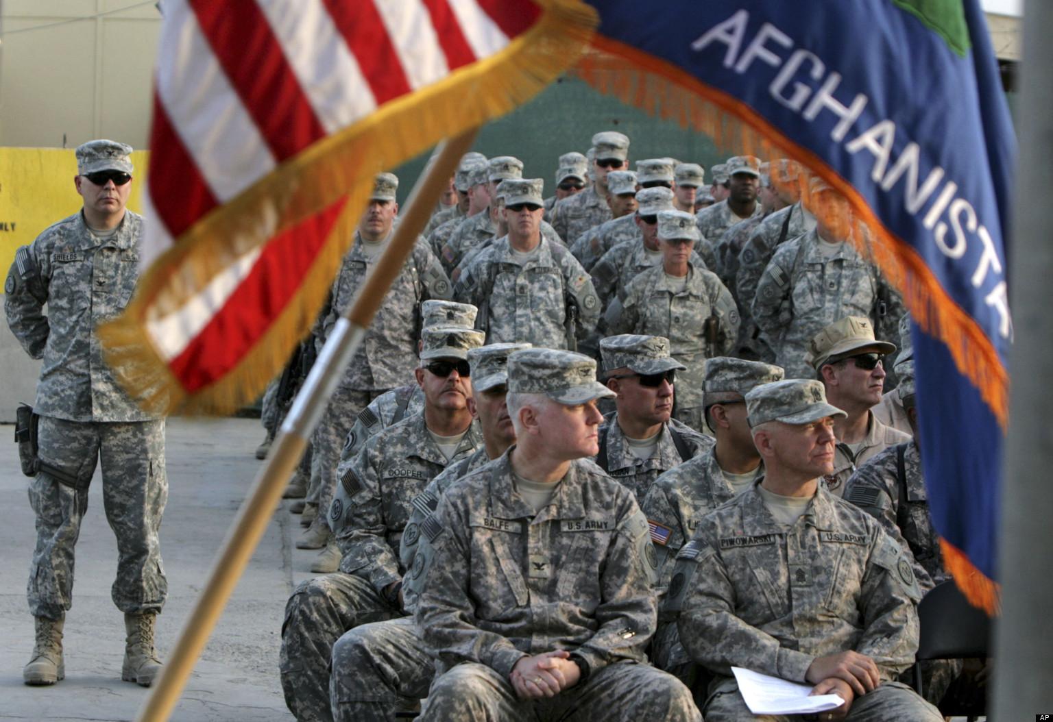 Американские военные и флаги (3)
