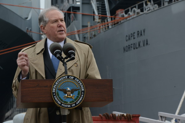 Under_Secretary_of_Defense_for_Acquisition_Technology_and_Logistics_Frank_Kendall_speaks_outside_the_container_ship_MV_Cape_Ray_T-AKR_9679_in_Portsmouth_Va._Jan._2_2014_140102-A-NU123-001-600x400