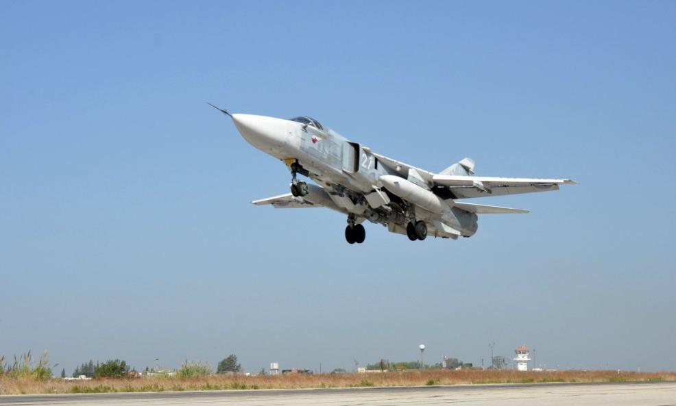 Вылеты российских вкс после сбитого су-24
