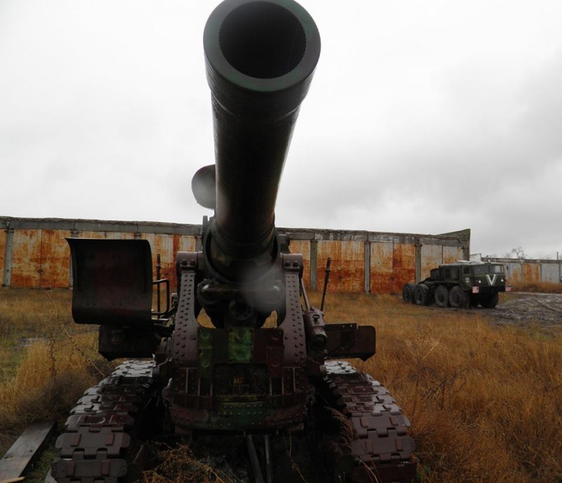 203-мм гаубицы Б-4 в украинской армии