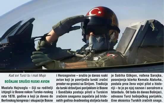 Пилот F-16, сбивший российский Су-24М, этнический босняк?