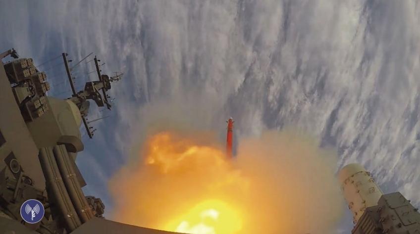 Первое корабельное испытание зенитной управляемой ракеты Barak 8