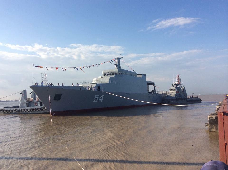 Патрульный корабль мьянманской постройки