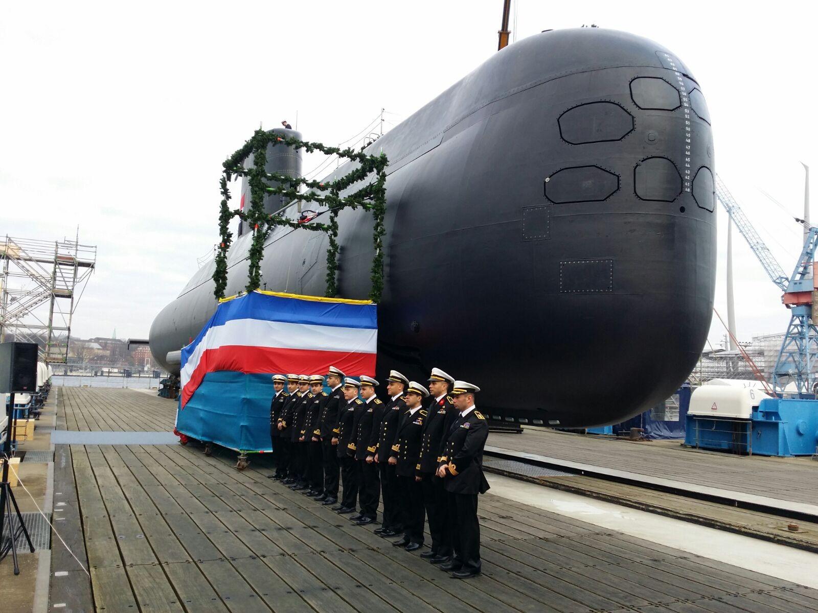 Спущена на воду первая германская подводная лодка для Египта