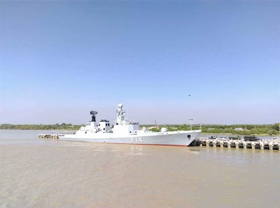 Введен в строй третий мьянманский фрегат