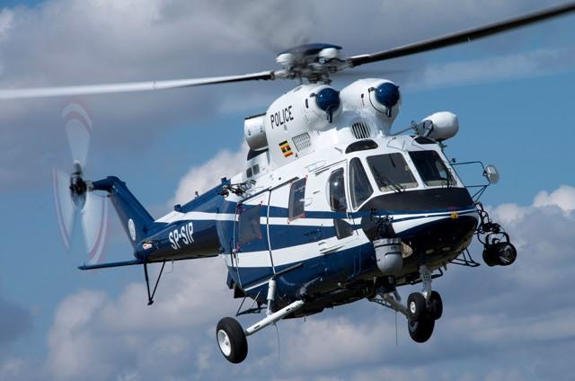 Полиция Уганды получила польский вертолет W-3A