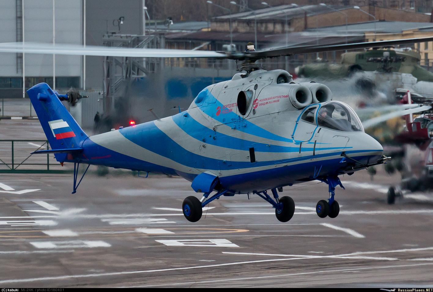 Первый полет летающей лаборатории скоростного вертолета на базе Ми-24