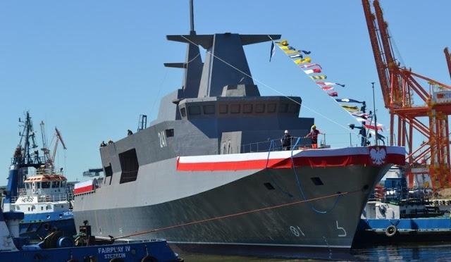 New Polish Navy Ślązak Patrol Vessel built by Gdynia Navy Shipyard 2