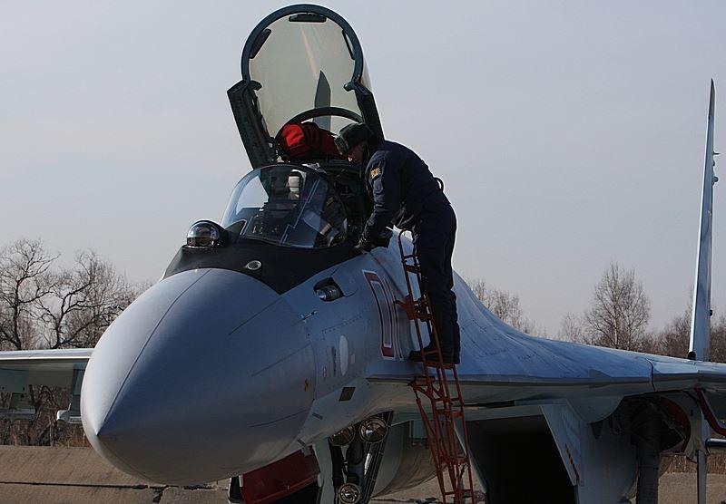 В 22-м истребительном авиационном полку ВКС России сформирована эскадрилья истребителей Су-35С