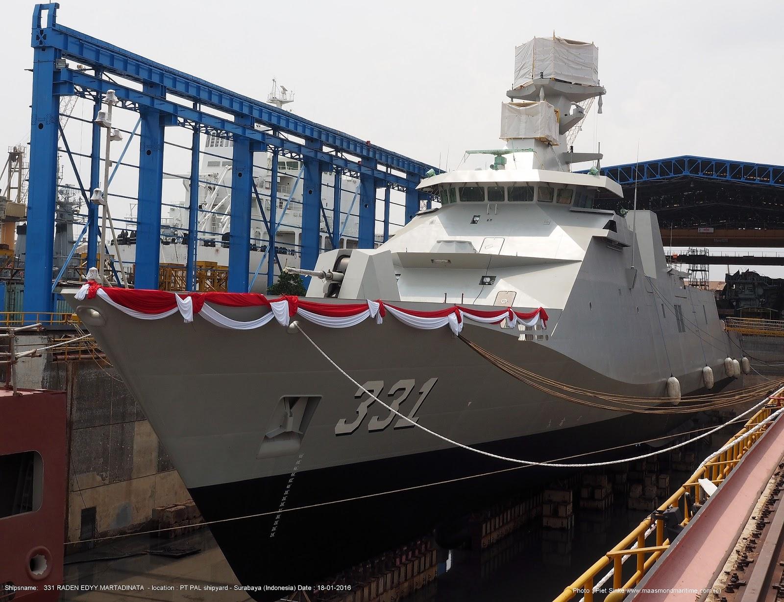 Cпущен на воду построенный в Индонезии фрегат типа SIGMA