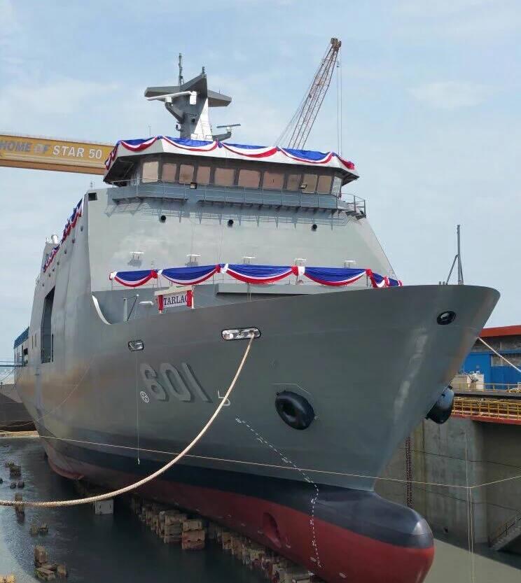 Спущен на воду первый десантный корабль-док для Филиппин