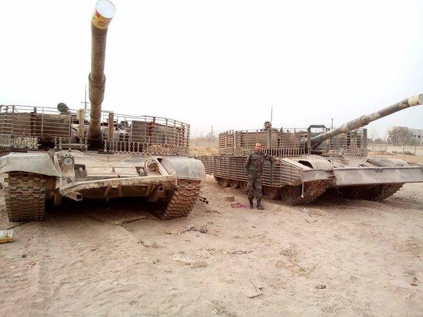 Необычные танки Т-72 Сирийской Арабской Армии