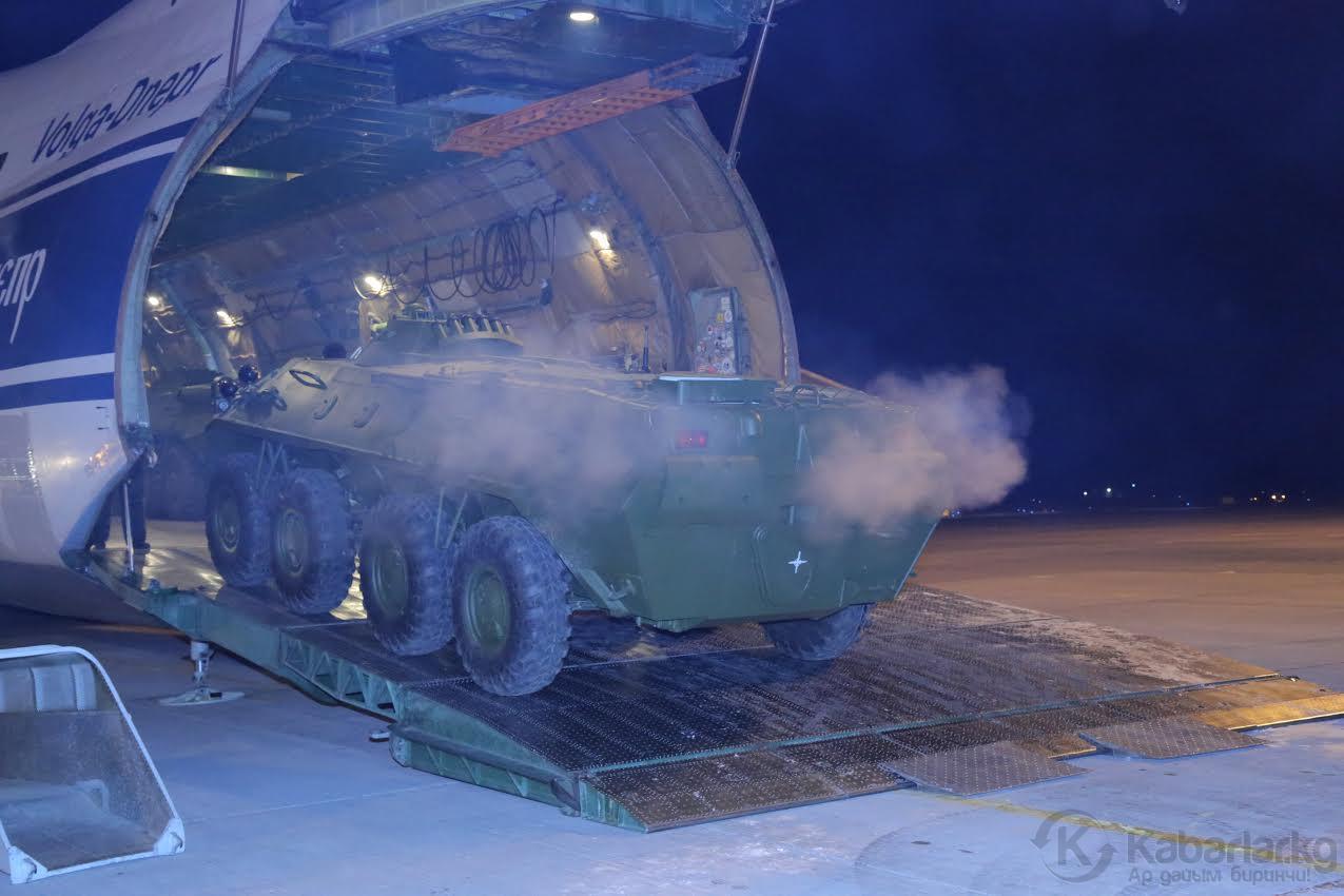 Россия передала Киргизии 20 бронетранспортеров БТР-70М