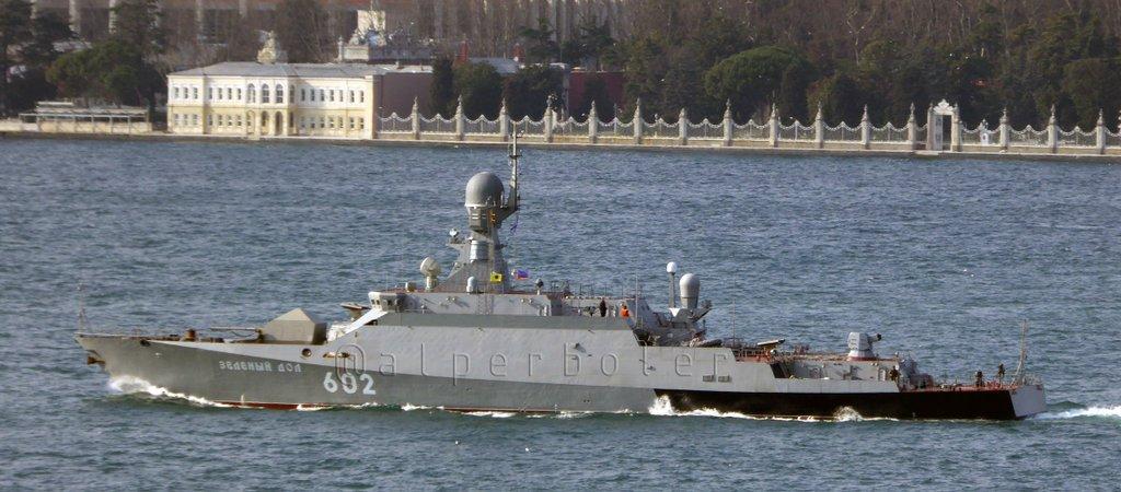 """Малый ракетный корабль """"Зелёный Дол"""" вышел в Средиземное море"""