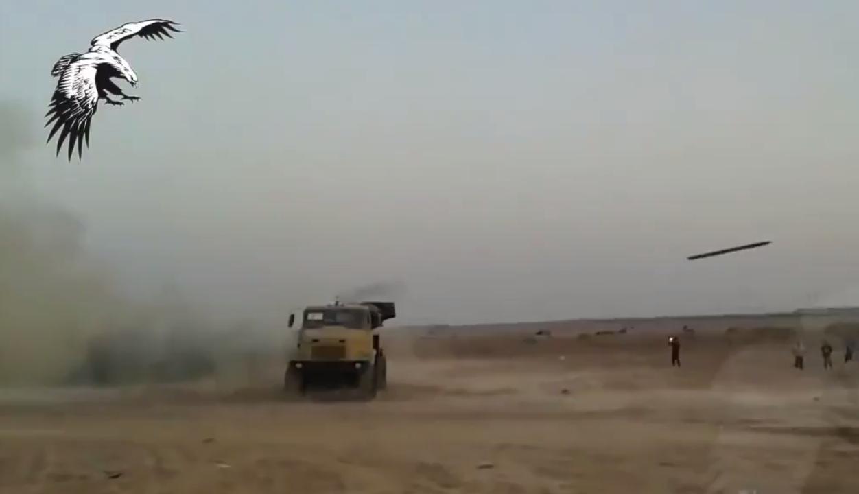 Неудачный пуск реактивного снаряда М-21ОФ в Ираке