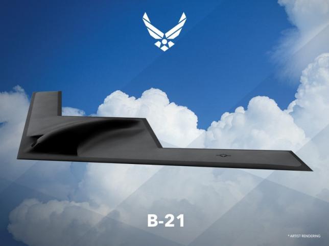 Первое обнародованное изображение стратегического бомбардировщика В-21