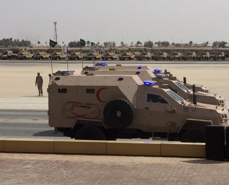 Грузинские бронированные медицинские машины Didgori в Саудовской Аравии